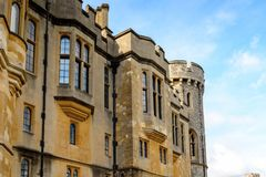 Windsor, England, United Kingdom. WINDSOR, ENGLAND - JULY 21, 2016: State apartment of the Windsor Castle, Berkshire, England. Official Residence of Her Majesty stock photography