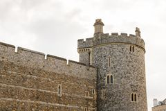 Windsor, England, United Kingdom. WINDSOR, ENGLAND - JULY 21, 2016: Wall of the Windsor Castle, Berkshire, England. Official Residence of Her Majesty The Queen royalty free stock images