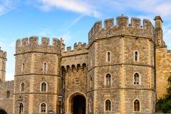 Windsor, England, United Kingdom. WINDSOR, ENGLAND - JULY 21, 2016: King Henry VIII Gate, Windsor Castle, Berkshire, England. Official Residence of Her Majesty stock photo