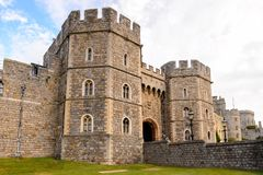 Windsor, England, United Kingdom. WINDSOR, ENGLAND - JULY 21, 2016: King Henry VIII Gate, Windsor Castle, Berkshire, England. Official Residence of Her Majesty Stock Photos