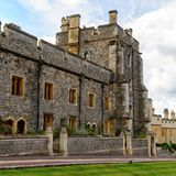 Windsor, England, United Kingdom. WINDSOR, ENGLAND - JULY 21, 2016: Lower Ward, Windsor Castle, Berkshire, England. Official Residence of Her Majesty The Queen royalty free stock photos