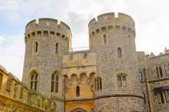 Windsor, England, United Kingdom. WINDSOR, ENGLAND - JULY 21, 2016: Norman Gate in the Windsor Castle, Berkshire, England. Official Residence of Her Majesty The stock photos
