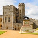Windsor, England, United Kingdom. WINDSOR, ENGLAND - JULY 21, 2016: South Wing of the Upper Ward, Windsor Castle, Berkshire, England. Official Residence of Her stock images