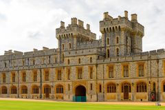 Windsor, England, United Kingdom. WINDSOR, ENGLAND - JULY 21, 2016: South Wing of the Upper Ward, Windsor Castle, Berkshire, England. Official Residence of Her royalty free stock photos
