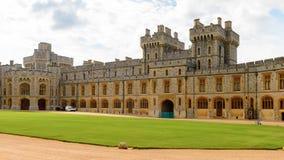 Windsor, England, United Kingdom. WINDSOR, ENGLAND - JULY 21, 2016: South Wing of the Upper Ward, Windsor Castle, Berkshire, England. Official Residence of Her royalty free stock images