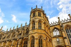 Windsor, England, United Kingdom. WINDSOR, ENGLAND - JULY 21, 2016: St George's Chapel, Lower Ward, Windsor Castle, Berkshire, England. Official Residence of Her stock photography