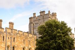 Windsor, England, United Kingdom. WINDSOR, ENGLAND - JULY 21, 2016: Windsor Castle, Berkshire, England. Official Residence of Her Majesty The Queen royalty free stock image