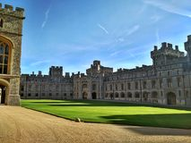 Windsor / Great Britain - November 02 2016: The yard of the Windsor Castle on a sunny day stock images