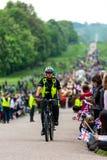 Windsor, Gro?britannien - 18. Mai 2019: Die Haushalts-Kavallerie ihre Abfahrt von Comberme-Kasernen markieren lizenzfreies stockbild