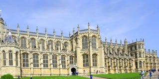Windsor, het Verenigd Koninkrijk - 29 Augustus, 2017: De mening van Middeleeuwse Windsor Castle Windsor Castle is een koninklijke Royalty-vrije Stock Foto