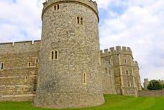 Windsor, het Verenigd Koninkrijk - 29 Augustus, 2017: De mening van Middeleeuwse Windsor Castle Windsor Castle is een koninklijke Stock Afbeeldingen
