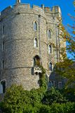 Ivy Growing up Castle Wall. Windsor with Ivy Growing up Castle Wall stock image