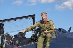 WINDSOR KANADA - SEPT 10, 2016: Sikt av kanadensisk militär stråle a Arkivfoton