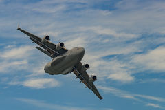 WINDSOR NOVO, NY - 3 DE SETEMBRO DE 2016: C-17 gigante Globemaster III Imagem de Stock