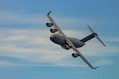 WINDSOR NOVO, NY - 3 DE SETEMBRO DE 2016: C-17 gigante Globemaster III Fotos de Stock Royalty Free