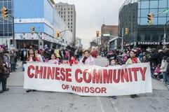 Windsor Ontario Canada bożych narodzeń parada Fotografia Royalty Free