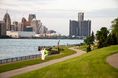 Windsor ontario river side Stock Photography