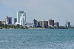 Windsor, Ontario Skyline. Skyline of Windsor, Ontario, Canada on the Detroit River Stock Photos
