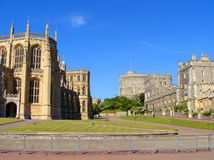 Windsor Palace. Windsor Castle - the Lower Ward and King George's Chapel Stock Photos