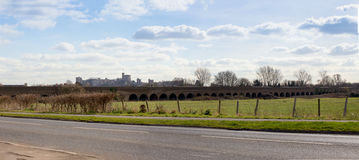 Windsor Railway Viaduct and Castle Stock Photos