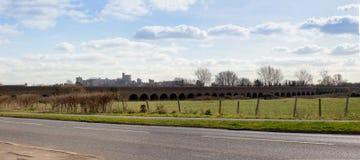 Windsor Railway Viaduct and Castle Stock Photos