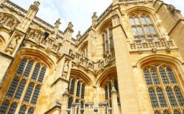 Windsor, Reino Unido - 29 de agosto de 2017: Windsor Castle medieval Windsor Castle é local do casamento do príncipe Harry em 201 imagem de stock