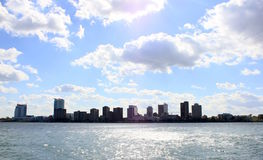 Windsor from the river. An image of downtown Windsor, Canada looking from the Detroit River Stock Image