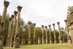 Windsor Ruins en Mississippi rural imagen de archivo libre de regalías