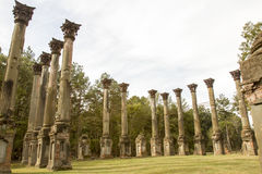 Windsor Ruins in rural Mississippi. Details of architecture in the National Historical Site Windsor Ruins in Mississippi Royalty Free Stock Image