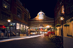 Windsor shopping centre in the evening. With car trail lights, long exposure Royalty Free Stock Photography