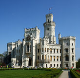 Windsor style chateau. A Windsor style chateau in the Czech Republic royalty free stock images
