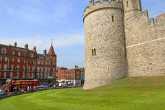 Windsor, United Kingdom - Aug 29, 2017:  View of Medieval Windsor Castle Windsor Castle is a royal residence at Windsor, Eng. Windsor, United Kingdom - Aug 29 Royalty Free Stock Photo