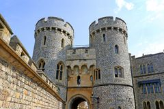 Windsor Zjednoczone Królestwo, Aug, - 29, 2017: Widok Średniowieczny Windsor kasztelu Windsor kasztel jest królewskim siedzibą pr obraz stock
