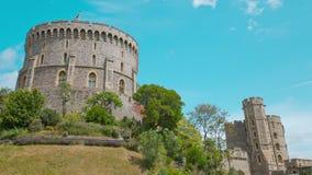Windsorkasteel, Koningin koninklijke woonplaats stock video