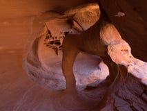 Windstone曲拱,火国家公园谷  免版税图库摄影