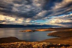Windstorm above lake. Windstorm above Baikal lake. Maloe more, Russia Stock Image