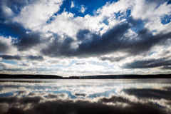 Windstorm. Dramatic sky with clouds Royalty Free Stock Photography