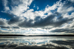 Windstorm. Dramatic sky with clouds Royalty Free Stock Images