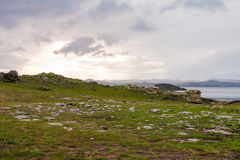 Windstorm nad Baikal jeziorem Zdjęcie Stock