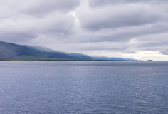 Windstorm nad Baikal jeziorem Fotografia Stock