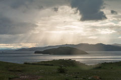 Windstorm over Baikal lake. Maloe more, Russia Stock Images