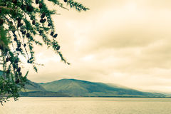 Windstorm over Baikal lake. Maloe more, Russia Royalty Free Stock Images