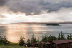 Windstorm over Baikal lake Stock Images