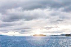 Windstorm over Baikal lake. Maloe more, Russia Stock Photo