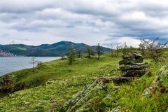Windstorm over Baikal lake. Maloe more, Russia Stock Photography