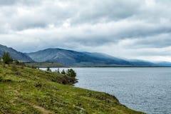 Windstorm over Baikal lake Stock Image