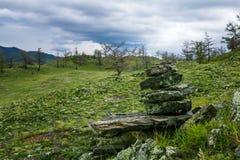 Windstorm over Baikal lake Royalty Free Stock Image