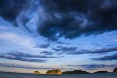 Windstorm. Sea of Rainy season , gulf of Thailand Stock Photos