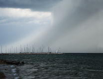 Windstorm. Summer windstorm at the beach Royalty Free Stock Photos
