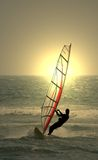 Windsurf. Sunset windsurf stock photos